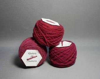 magenta Merino, naturally hand dyed wool