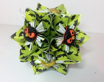 Small Kusudama Flower Ball Ornament (Halloween V3)