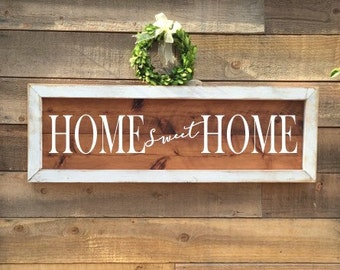 Home Sweet Home Sign, rustic Home Decor