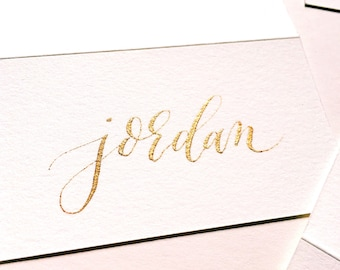 Calligraphy Place Cards, Name Cards, made to order