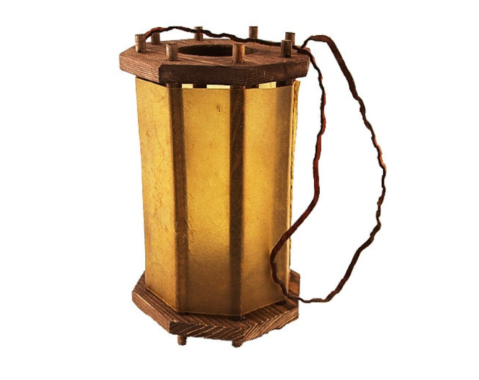 Wooden Medieval Lantern opening from the bottom