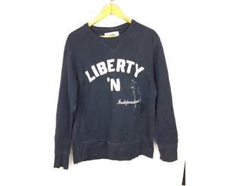 BACK NUMBER Long Sleeve Sweatshirt Pull Over Medium Size