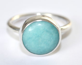 otto blue yellow ring rings color clarke amazonite gallery astley lyst product jewelry in normal