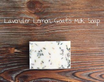 Lavender Lemon Goat's Milk Soap; Bar Soap; Homemade