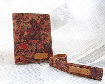 Leather Passport Cover and Tags Gift Set/ Passport Holder / Gifts For Travelers / Travel Gifts