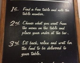 How To Order Food Café Sign