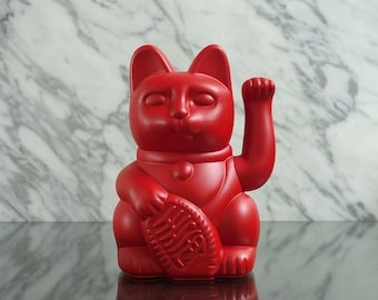 Maneki Neko / Lucky Cat / Waving Cat – Red