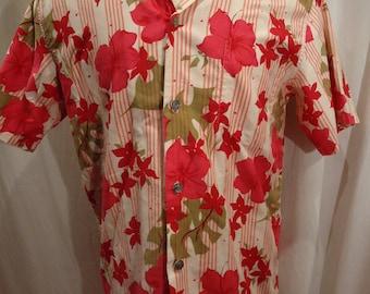 Vintage Calabash House Waikiki Hawaiian Shirt size Medium