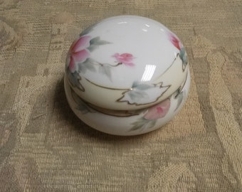 Hand Painted Nippon Powder Jar