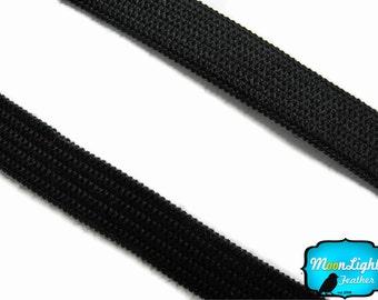 FOE Headband, 5 Yards - BLACK Skinny Elastic Bands 6 cm : 1401