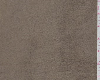 Cocoa Brown Polyester Fleece, Fabric By The Yard