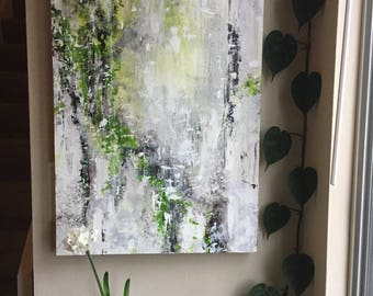 """Art, Original Abstract Painting, Acrylic Painting on Panel, Titled Clarity 24"""" x 18"""""""