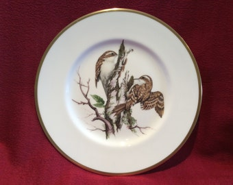 "Coalport British Birds Tree Creeper Bone China Plate 10 3/4"" diameter"