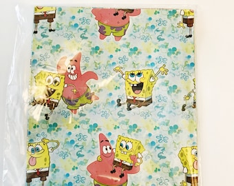 Sponge Bob Square Pants & Patrick American Greetings Gift Wrap All Occasion Wrapping Paper Birthday Party Supplies Gifting Packaging Paper
