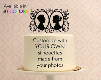 The Original Custom Silhouette Wedding Cake by Silhouetteweddings