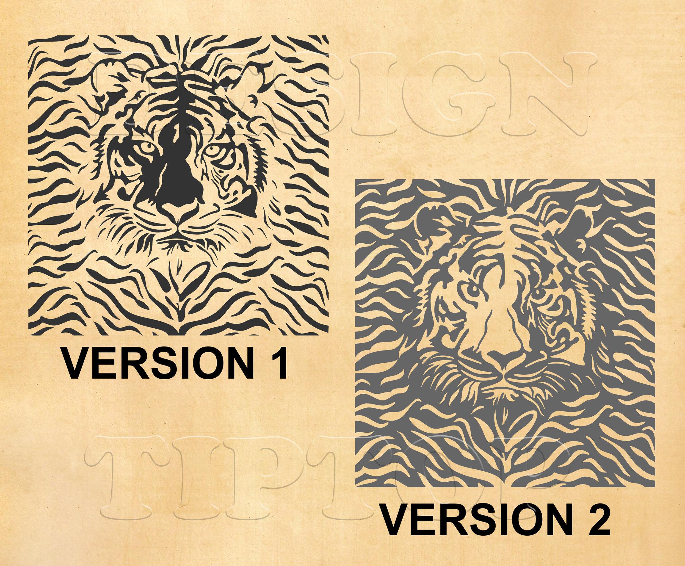 Tiger SVG, tiger head, tiger wall art, vinyl cutting, tiger shirt ...