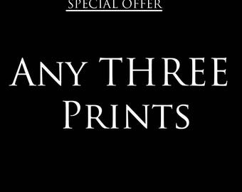 Any 3 prints special offer – Discount deal – Save – Gifts for kids – Gifts for him – Gifts for her – Offer – Wall art – Home decor-Nursery