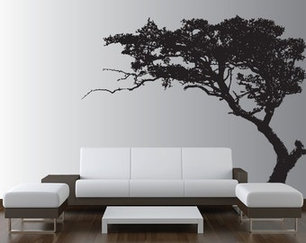Large Wall Tree Decal Forest Decor Vinyl Sticker Highly Detailed Removable Nursery 1131 (5 feet tall)