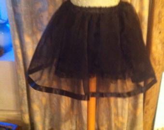 Black organza party skirt