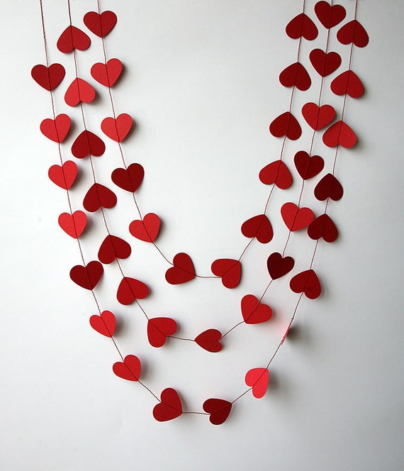 valentines day decor valentine decor heart garland valentines day heart garland paper garland wedding decoration bridal kco 3047 - Valentines Day Decor