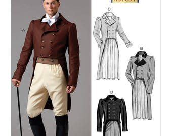 Butterick B6573 Men's 19th Century Tailcoat Jacket