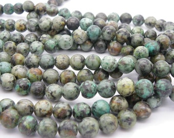 set of 30 beads 4 mm frosted African turquoise natural gemstone