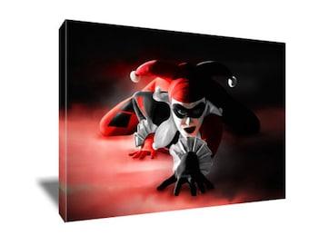 FREE SHIPPING Harley Quinn Badass Canvas Art