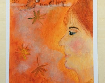 Print 'Autumn...Watching'   on Archival Paper