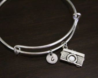 Camera Bangle Bracelet - Camera Bangle - Camera Jewelry - Camera Gift - Photographer Gift - Photographer Bangle - Model Gift - I/B/H