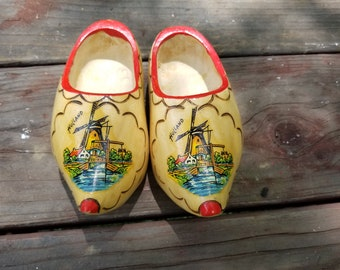 Pair of Wooden Shoes - Holland Souvenirs