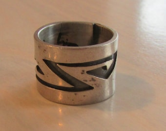 """1/2"""" Wide Sterling Silver Band Ring  Size 5 1/2"""