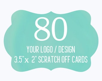80 Custom Scratch Off Cards Your Logo or Design