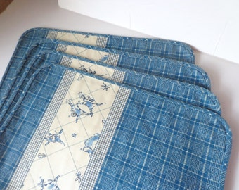 Blue Placemats, Placemat, Place Mat, Blue Fabric Place Mats, Blue Place Mats, Dinner Place Mats, Place Mats for Dining, Fabric Place Mats