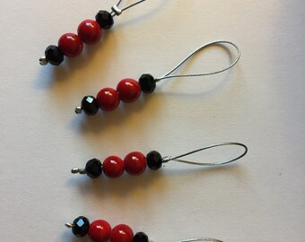 Set of 4 Beaded Stitch Markers