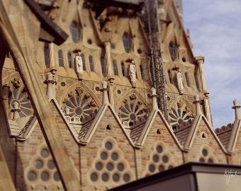 Barcelona La Sagrada Familia Cathedral photograph