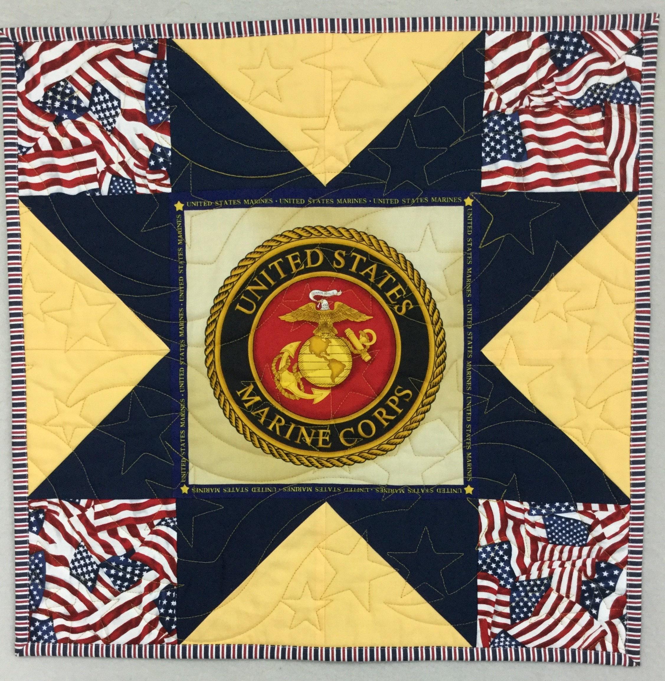 Patriotic Mini Quilt Military DecorMarines Wall Hanging