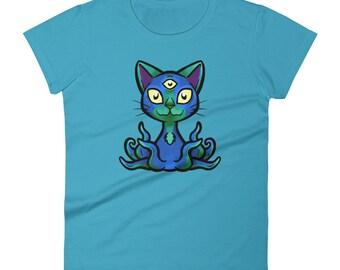 Women's Three eyed OctoKitty t-shirt