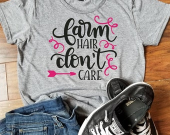 Farm Hair Dont't Care T-shirt