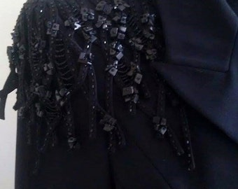Black french beaded blazer