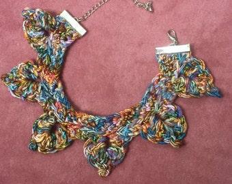 Handmade Crochet Dragonscale Choker Necklace