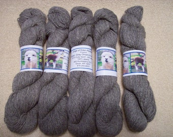 Alpaca Yarn – Elijah, Gray Ghost, and Hurrah (2 ply sport weight)