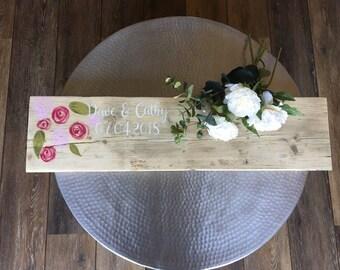 Floral Wedding Guest book - Alternative guest book - Festival wedding - Rustic Guest Book - Boho Wedding - Wood Guest book - guest book idea