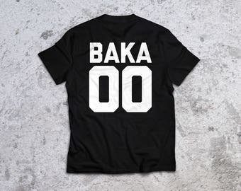 Baka Jersey Shirt - Anime Inspired Tee - Otaku Geek Shirt - Streetwear Lifestyle Shirt - Anime Aesthetic Shirt - Baka Japanese Gift