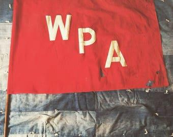 Vintage 1930s-1940s WPA Cotton Flag, Works Progress Administration