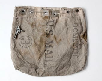 US Mail Domestic carrier bag circa 1981, canvas mail bag