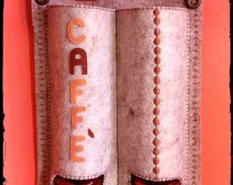 Dispenser, coffee pod holder to hang