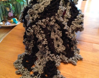 Scarves, scarf, accessories, women's scarves, women's accessories, women's clothing, women's fashions, crochet, gray, black