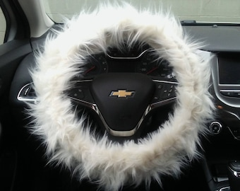 Steering Wheel Cover, Fuzzy Wheel Cover, Boho Wheel Cover, Furry Car Decor Accessories for Women