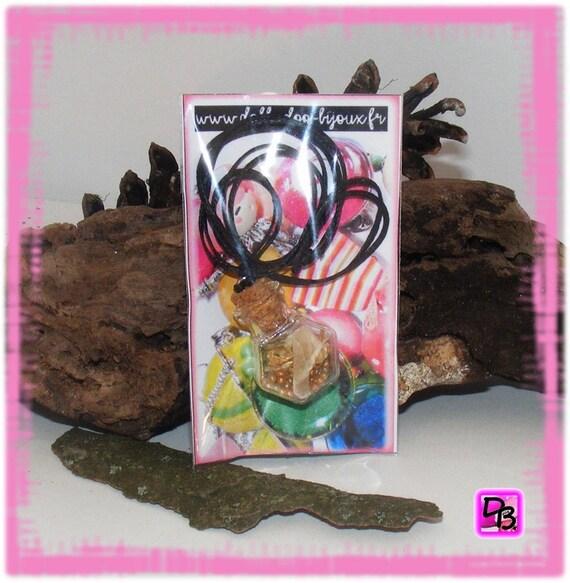 Sautoir Fiole [Petites fleurs de la montagne]
