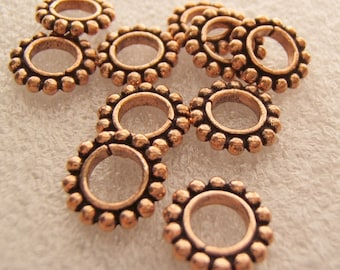 Antiqued Copper Large Holed Spacers